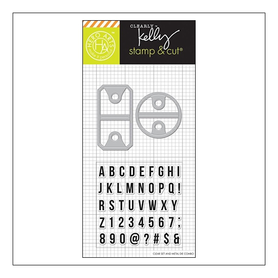 Hero Arts Kellys Alpha Tabs Stamp and Cut Clearly Kelly Collection by Kelly Purkey