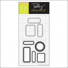 Hero Arts Kellys Labels Stamp and Cut Clearly Kelly Collection by Kelly Purkey