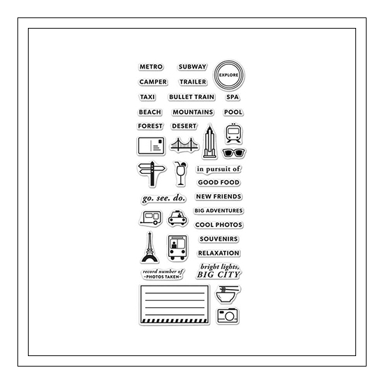 Hero Arts Clear Stamps Kellys Adventure Planner 2015 Planner Products Collection by Kelly Purkey