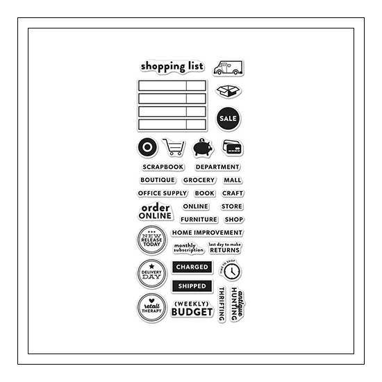 Hero Arts Clear Stamps Kellys Shopping Planner 2015 Planner Products Collection by Kelly Purkey
