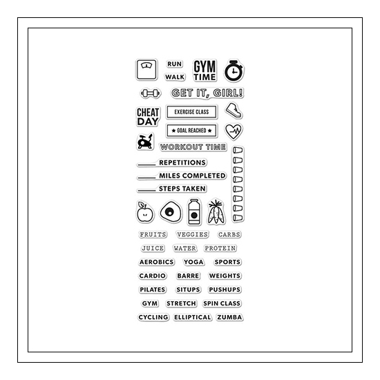 Hero Arts Clear Stamps Kellys Fitness Planner 2015 Planner Products Collection by Kelly Purkey