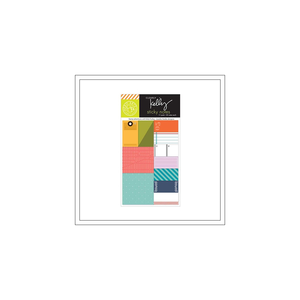 Hero Arts Kellys Everday Sticky Notes Clearly Kelly Collection by Kelly Purkey