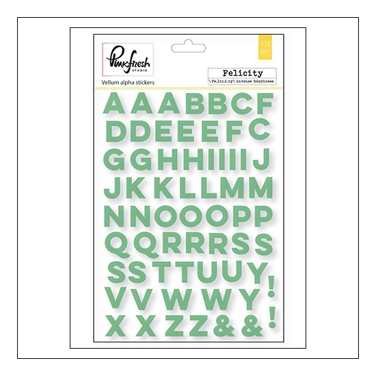 Pinkfresh Studio Vellum Alphabet Sticker Sheets Felicity Collection