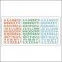 Pinkfresh Studio Vellum Alphabet Sticker Sheets Felicity Collection