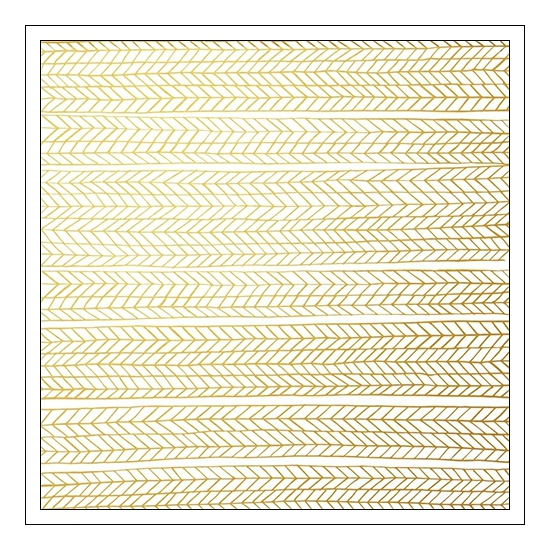 Pinkfresh Studio Vellum Paper Sheet Chevron Gold Foiled Felicity Collection