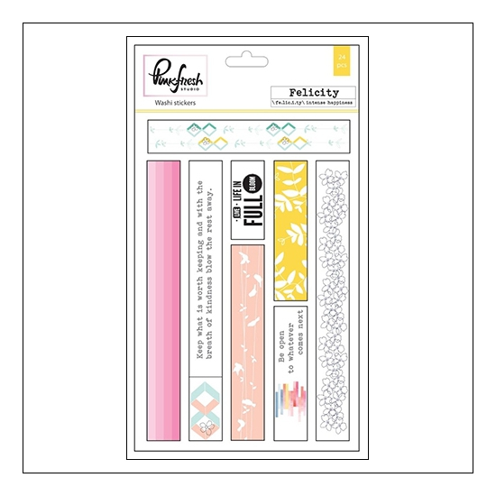 Pinkfresh Studio Washi Sticker Sheets Felicity Collection