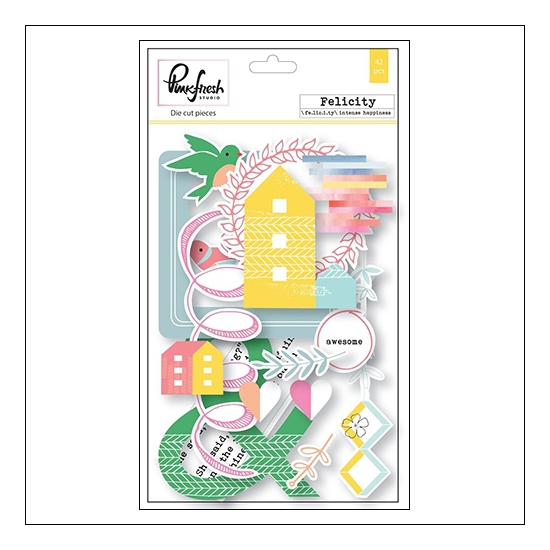 Pinkfresh Studio Cardstock Die Cut Pieces Felicity Collection