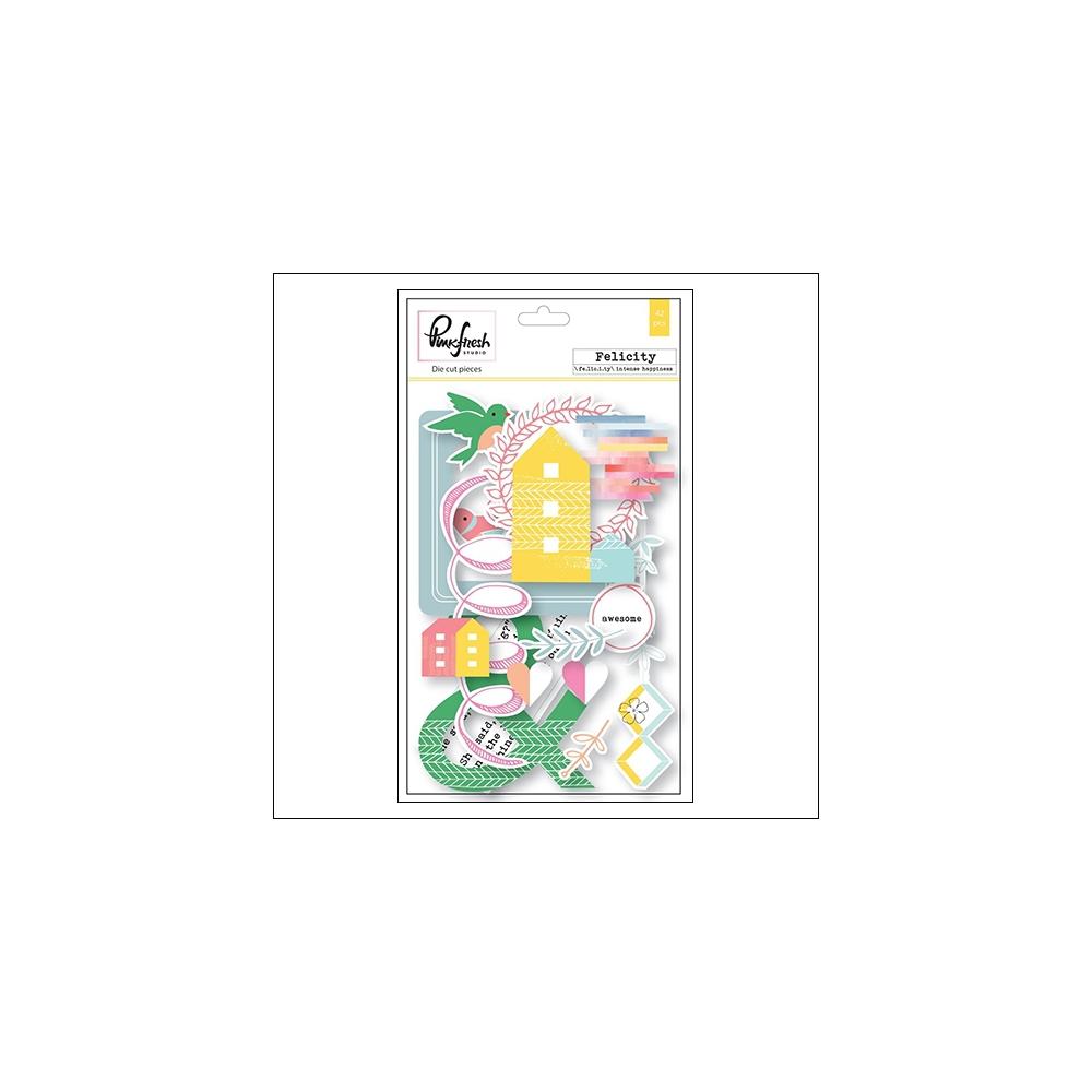 Pinkfresh Studio Cardstock Die Cut Pieces Felicity Collection