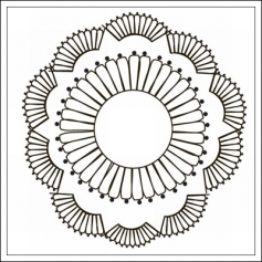 Prima Marketing Mini Clear Stamp Paintable Doily