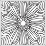 Prima Marketing Mini Clear Stamp Paintable Flower
