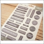 Elles Studio Everyday Labels Gray Puffy Stickers