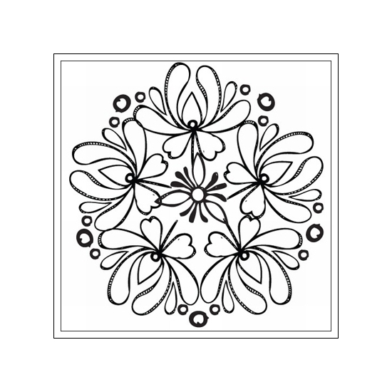 Prima Marketing Mini Clear Stamp Paintable Flowers