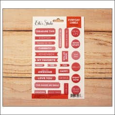 Elles Studio Everyday Labels Pink Puffy Stickers