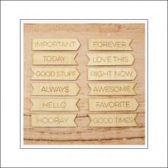 Elles Studio Wood Veneer Month Tabs