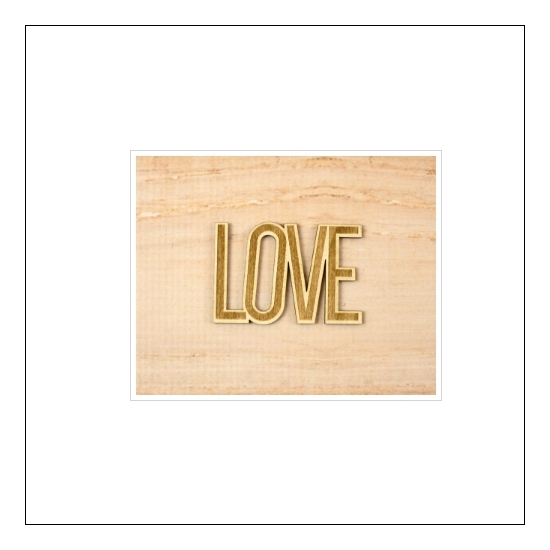 Elles Studio Wood Veneer Word Love
