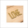Elles Studio Wood Veneer Word Love