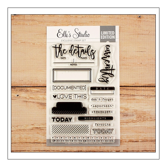 Elles Studio Clear Stamps Documented Stamp