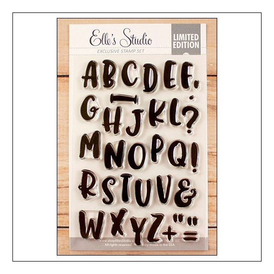 Elles Studio Clear Stamps Marie Alphabet Set