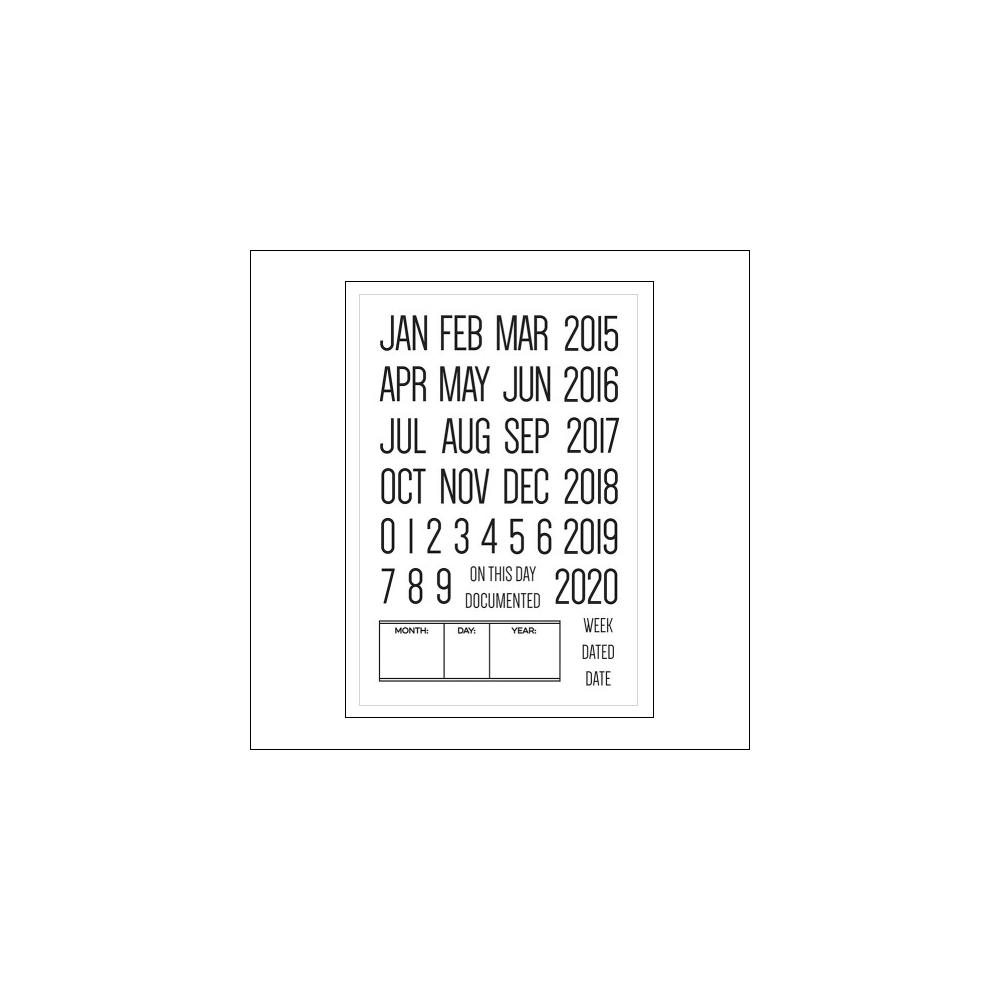 Elles Studio Clear Stamps Dated Stamp Set