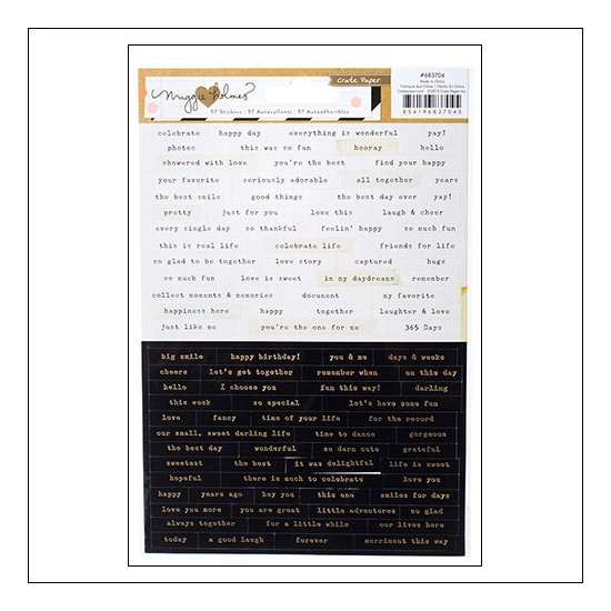 Crate Paper Tiny Phrases Stickers Confetti Collection by Maggie Holmes