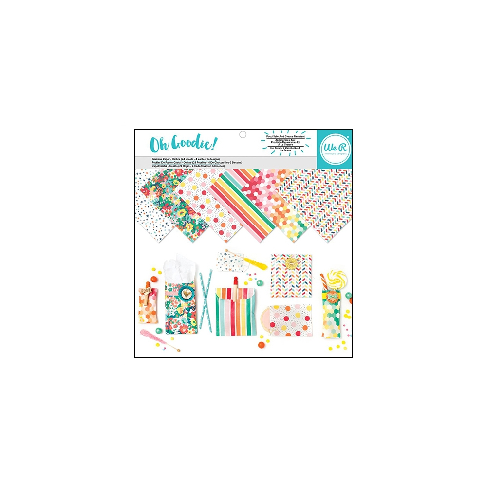 We R Memory Keepers Glassine Paper Sheets Oh Goodie Collection