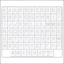 Jillibean Soup White Alpha Tiles