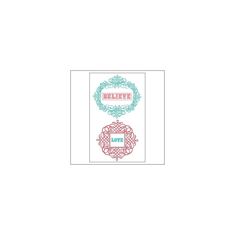 Prima Marketing Clear Stamps Believe