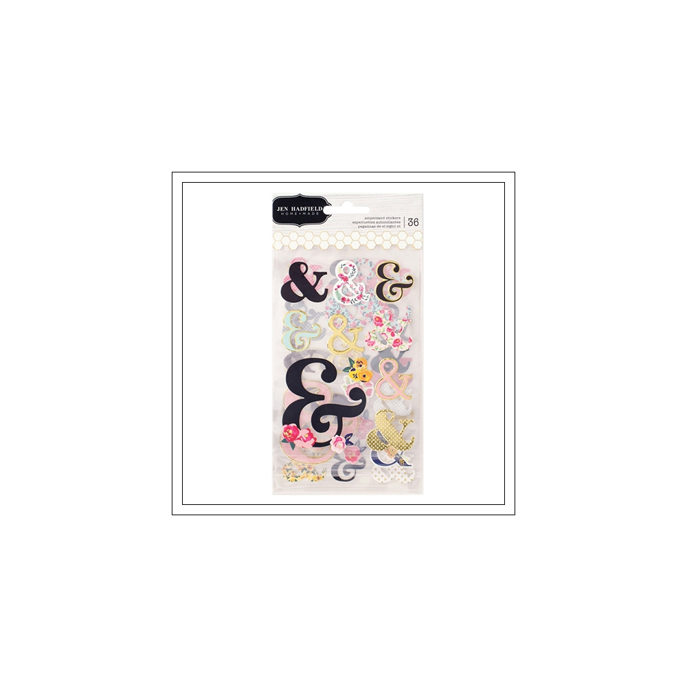 Pebbles Paper Ampersand Cardstock Stickers Foil Accents Everyday Collection by Jen Hadfield