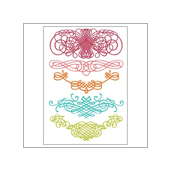 Prima Marketing Clear Stamps Fancy Swirls