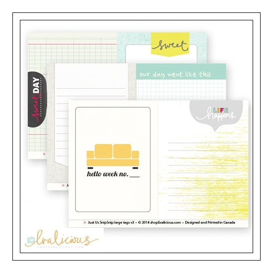 Evalicious Snip Snip Large Tags Just Us Collection