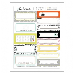 Evalicious Snip Snip Page Labels Life Is Sweet Collection
