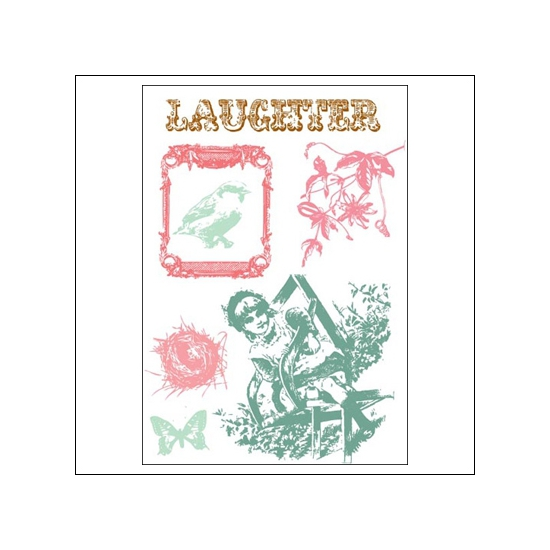 Prima Marketing Clear Stamps Laughter