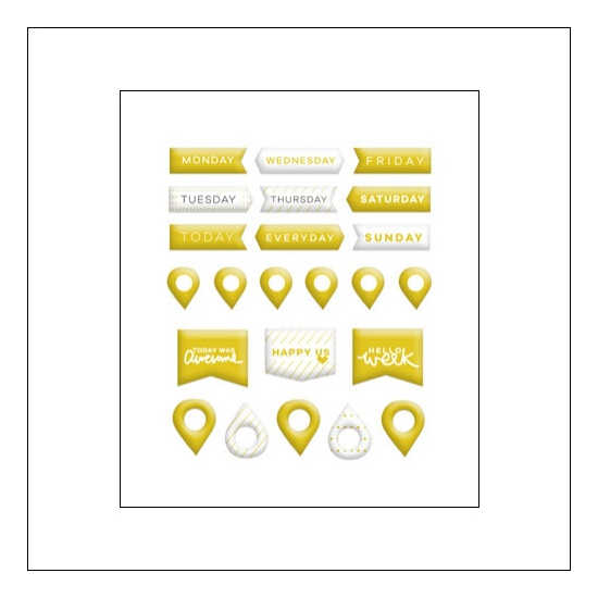 Evalicious Puffy Stickers Gold Foil Pins & Banners