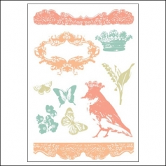 Prima Marketing Clear Stamps Shabby