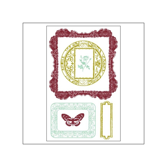 Prima Marketing Clear Stamps Victorian Frames