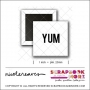 Scrapbook and More 1 inch Square Flair Badge Button White Yum by Nicole Reaves