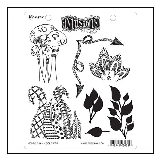 Ranger Dylusions Cling Stamp Set Write Between The Lines by Dyan Reaveley