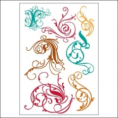 Prima Marketing Clear Stamps Victorian Swirls