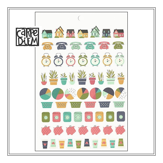 Simple Stories Sticker Tablet Sheet Home Carpe Diem Planner Collection