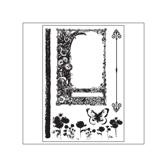 Prima Marketing Mini Cling Mounted Rubber Stamps Sun Kiss