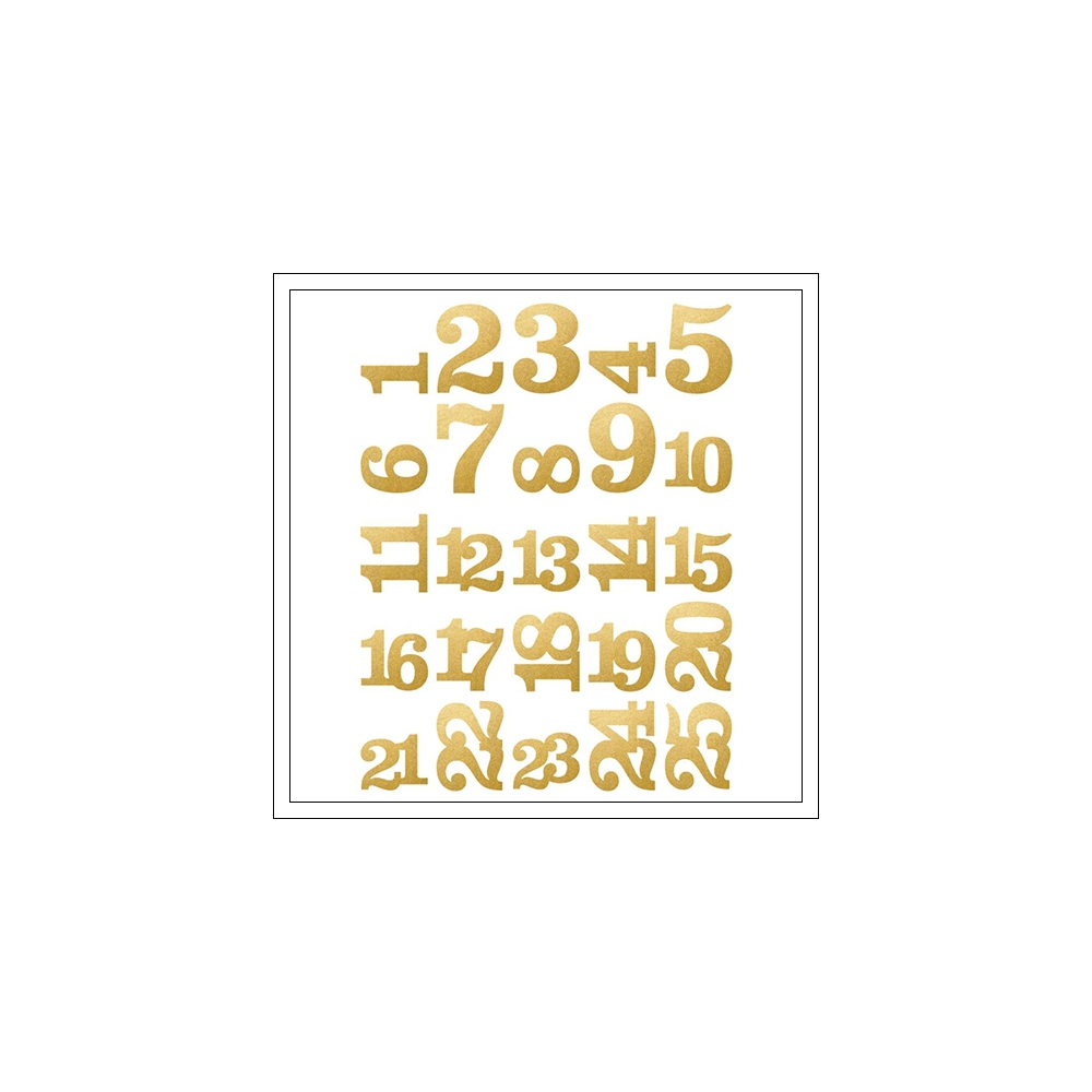 Simple Stories Pocket Pieces Die Cuts Gold Foil Numbers Classic Christmas Collection