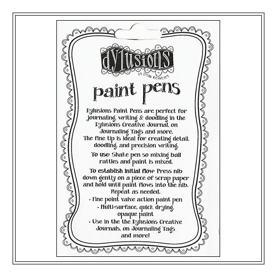 Ranger Dylusions Paint Pen White by Dyan Reaveley