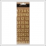 American Crafts Gold Foil Puffy Number Stickers DIY Shop 4 Collection