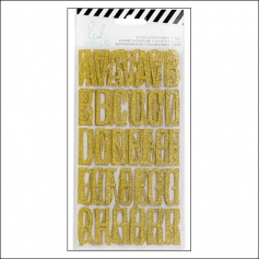 Heidi Swapp Gold Alphabet Glitter Stickers Magnolia Jane Collection