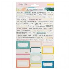 Crate Paper Phrase Stickers Chasing Dreams Collection by Maggie Holmes