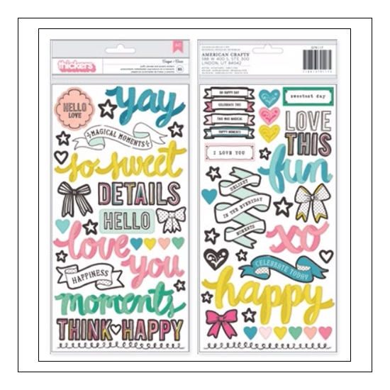 Crate Paper Puffy Phrase and Accent Stickers Cirque Carousel Collection by Maggie Holmes