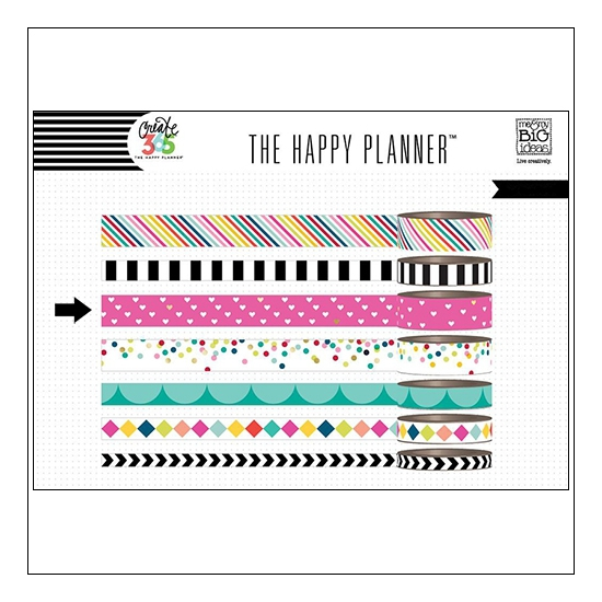 Me and My Big Washi Tape Roll Hearts Brights Create 365 The Happy Planner Collection