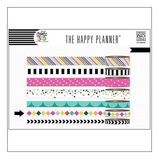 Me and My Big Washi Tape Roll Brights Create 365 The Happy Planner Collection
