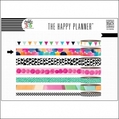Me and My Big Washi Tape Roll Colorful Dots Watercolor Create 365 The Happy Planner Collection