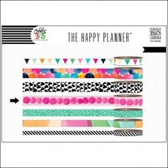Me and My Big Washi Tape Roll Pink Dots Watercolor Create 365 The Happy Planner Collection